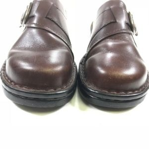 Clarks Shoes - Clarks Brown Leather Comfort Mule Clogs  (134)